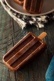 Homemade Cold Chocolate Fudge Popsicles Royalty Free Stock Photos