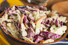 Homemade Coleslaw with Shredded Cabbage and Lettuce Royalty Free Stock Photography