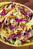 Homemade Coleslaw With Shredded Cabbage And Lettuce Stock Images