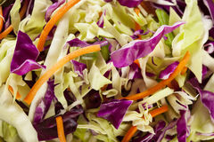 Homemade Coleslaw With Shredded Cabbage And Lettuce Stock Photos