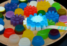 Homemade colorful cup jelly Royalty Free Stock Image
