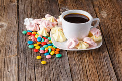Homemade colorful meringue with decoration Stock Photo