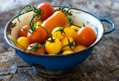 Homemade colorful tomatoes Royalty Free Stock Photos