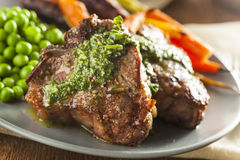 Homemade Cooked Lamb Chops Stock Images