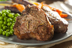Homemade Cooked Lamb Chops Royalty Free Stock Photography