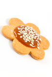 Homemade cookie with caramel and sesame seeds Stock Images