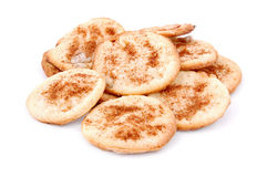 Homemade cookie with cinnamon. Isolated on white background Royalty Free Stock Photos