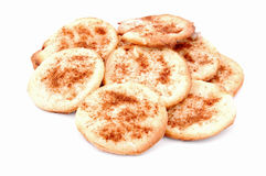 Homemade cookie with cinnamon. Isolated on white background Royalty Free Stock Photo