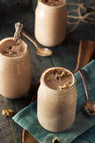 Homemade Cookie Dough Milkshake. Ready to Eat Royalty Free Stock Images