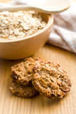 Homemade cookie with oat flakes Royalty Free Stock Photos