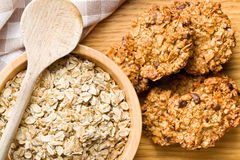 Homemade cookie with oat flakes Stock Photography