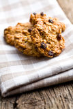Homemade cookie with oat flakes Stock Photo