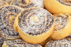 Homemade cookie roll with poppy Royalty Free Stock Image