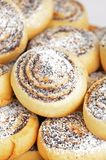 Homemade cookie roll with poppy Stock Photography
