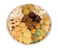 Homemade Cookie tray assortment isolated Royalty Free Stock Image