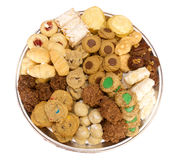 Homemade Cookie tray isolated Stock Image