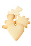 Homemade Cookies. Heart Shape Homemade Cookies Isolated on White Background Stock Photos