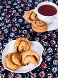 Homemade cookies. Cup of tea with homemade cookies Stock Images