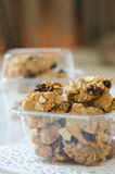 Homemade cookies. In the clear plastic box Royalty Free Stock Image