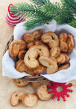 Homemade cookies in a basket Stock Images