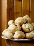 Homemade cookies. Belarus. Home bakery. Buns with ham and cheese Royalty Free Stock Photography