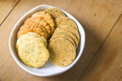 Homemade cookies in bowl Royalty Free Stock Image