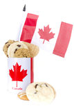 Homemade cookies Canada Day Royalty Free Stock Image