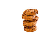 Homemade cookies with chocolate chips Royalty Free Stock Images