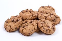 Homemade cookies with chocolate Stock Photography