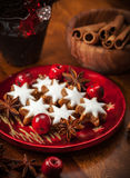 Homemade cookies for Christmas Royalty Free Stock Photos