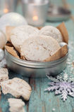 Homemade cookies for Christmas Stock Image