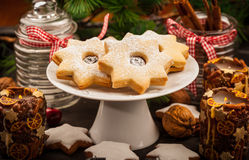 Homemade cookies for Christmas Royalty Free Stock Photo