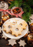 Homemade cookies for Christmas Royalty Free Stock Photography