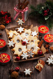Homemade cookies for Christmas Stock Photography