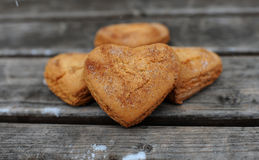 Homemade cookies. With cinnamon  over wooden background Stock Photo