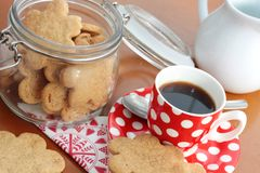 Homemade cookies and coffee Royalty Free Stock Photos
