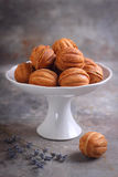 Homemade cookies with condensed milk  nut Royalty Free Stock Photos
