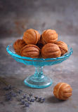 Homemade cookies with condensed milk  nut Royalty Free Stock Photography