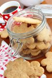 Homemade cookies in a cookie jar Stock Photos
