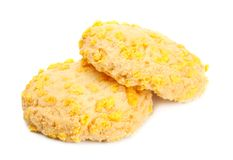 Homemade Cookies With Cornflake Chips Stock Images