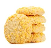 Homemade Cookies With Cornflake Chips Royalty Free Stock Image
