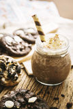 Homemade Cookies and Cream Milkshake. Royalty Free Stock Images