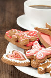 Homemade cookies with a cup of coffee Royalty Free Stock Photos