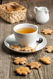 Homemade cookies and cup of tea Stock Image