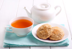 Homemade cookies and cup of tea Stock Photography