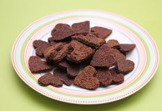 Homemade cookies for dogs with carob Stock Images