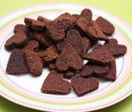 Homemade cookies for dogs. Some fresh homemade cookies for dogs stock images
