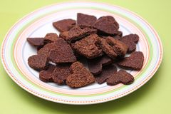 Homemade cookies for dogs. Some fresh homemade cookies for dogs royalty free stock photography