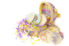 Homemade cookies Easter Basket stock photos