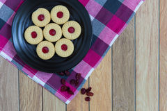 Cookies with Cranberry Jam Royalty Free Stock Photography